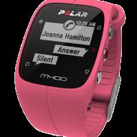 Καρδιοσυχνόμετρο POLAR πολυαθλημάτων M400 (ροζ)